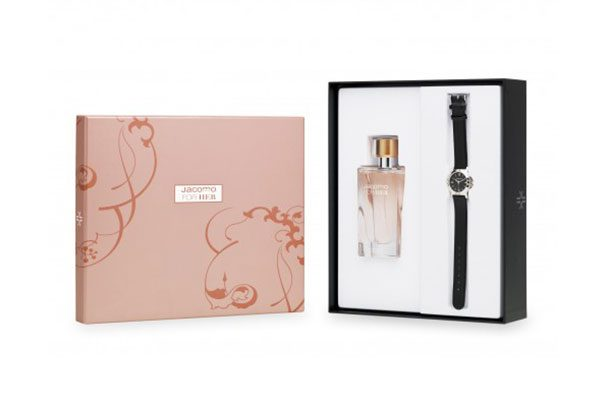 Jacomo For Her 100ml & Ρολόι